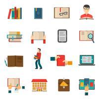 Bibliotheek Icons Set vector