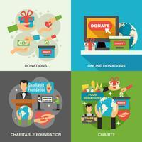 Liefdadigheid Concept Icons Set vector