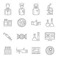 Microbiologie symbool met witte achtergrond