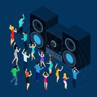Dansende mannen en vrouwen vector