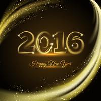 vrolijke nieuwe 2016 jaarafdruk