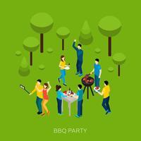Vrienden Bbq-feest vector
