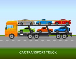 Car Transport Truck Illustratie vector