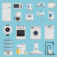 Huishoudelijke apparaten Icons Set vector