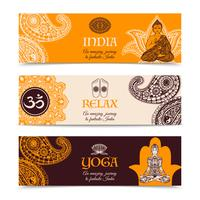 India-cultuur 3 horizontale geplaatste banners