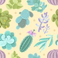 Cactus naadloze patroon vector