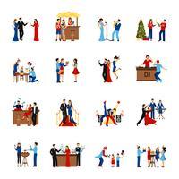 feest mensen pictogrammen instellen