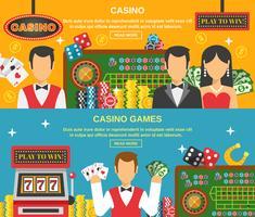 Casino en gokken Banners Set