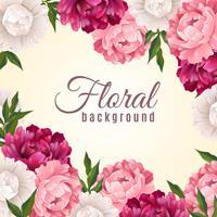 Floral realistische achtergrond