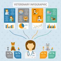 Veterinaire kliniek infographic grafiek banner vector