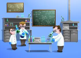 Chemisch laboratoriumconcept vector