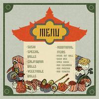 Aziatisch eten Menu vector
