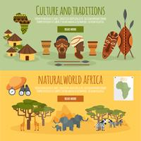Afrika 2 platte banners instellen