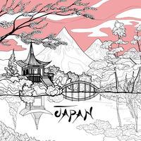 Japan landschap achtergrond