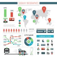 metro infographics set vector