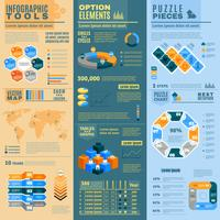 infographic banners instellen vector
