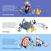 Bedrijfsstrategie Isometrische Banner