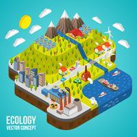 eco stad concept vector