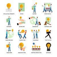 Intellectuele eigendom iconen