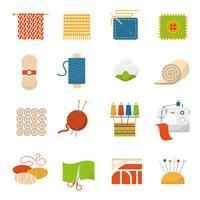 Textielindustrie Pictogrammen