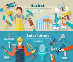 Home Reparatie Banner Set vector