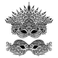 Decoratief Carnaval-masker vector