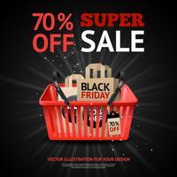 zwarte vrijdag verkoop print vector