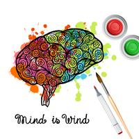 Creativiteit Brain Concept vector