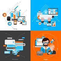 Bloggen Vlakke set vector