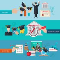 Bannerset voor hoger onderwijs vector
