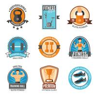 Fitness en Gym Club-badges vector