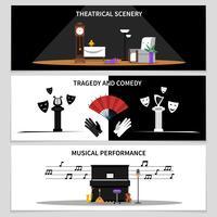theater banners instellen vector