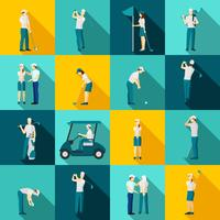 Golf Mensen Plat vector