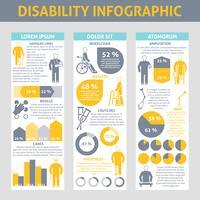 Mensen met een handicap Infographic Set vector