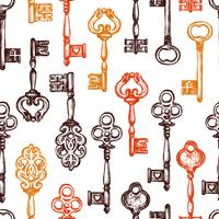 Vintage sleutel naadloze patroon