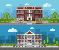 School platte banner vector