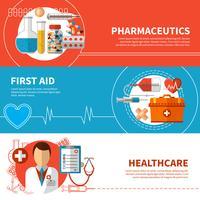 Horizontale medische banners vector