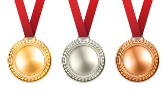 Medailles Illustratie instellen