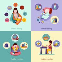 Babyvoeding Set vector
