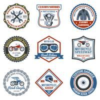 motorfiets label gekleurd
