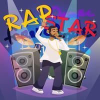 Rap muziekposter vector