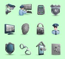 Beveiliging symbolen pictogrammen instellen