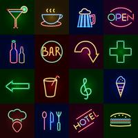 Led-verlichting Icons Set