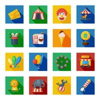 Circus pictogrammen plat