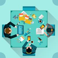 kantoor teamwerk concept vector