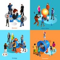 Pictogrammen bedrijfs van mensen instellen vector