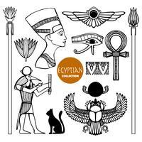 Egypte symbolen instellen vector