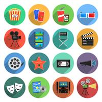 film pictogrammen platte set