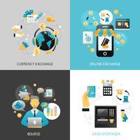 Valutawissel ontwerpconcept vector