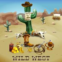 Wild West achtergrond afbeelding vector
